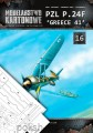 MK-1016 - PZL P.24 F 'GREECE 41' + wręgi i folia - 1/33