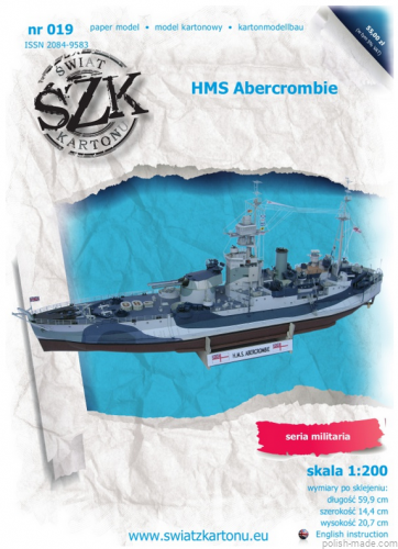 HMS ABERCROMBIE monitor - 019 - 1/200