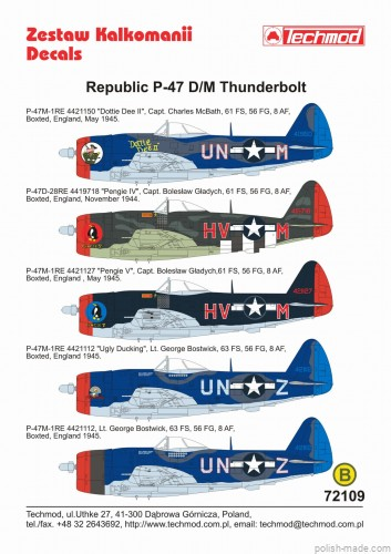 1/72 Republic P-47 D/M Thunderbolt  - USA 1944-45