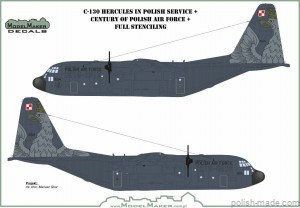 D144111 C-130 Hercules in Polish service + Century of Polish Air Force + full stenciling