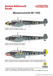 72003 Bf 110D - 1940-41